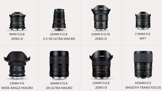 The current Laowa lens lineup