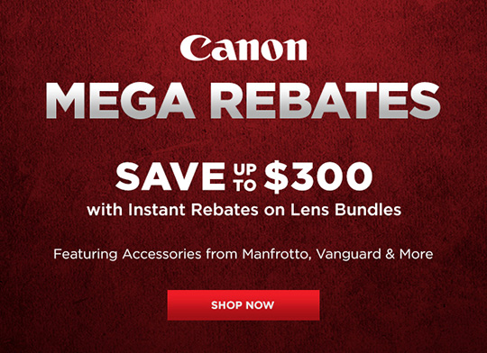 New Canon rebates in the US