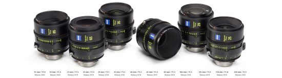 A new line of Zeiss Supreme Prime cinema lenses announced