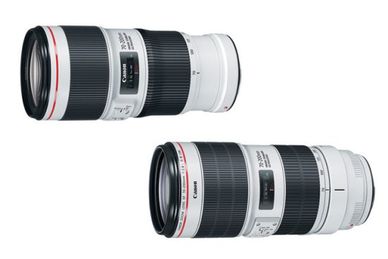 Announced: Canon EF 70-200MM F/4L II USM and EF 70-200MM F/2.8L IS II USM lenses