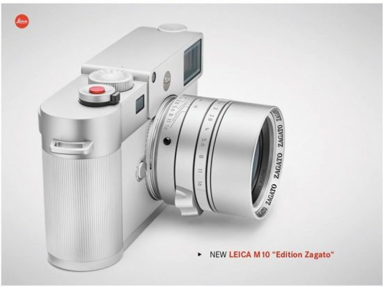 Picture of the upcoming Leica M10 Edition Zagato camera leaked online
