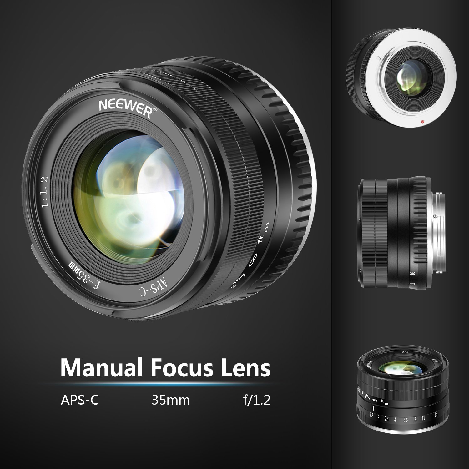 New Neewer 35mm F 1 2 Mirrorless Lens For Fuji X And Sony