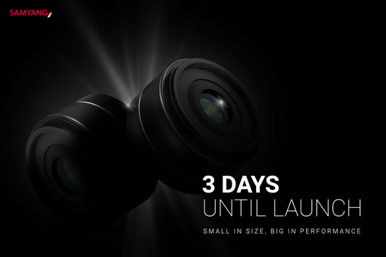 The Samyang 24mm f/2.8 AF pancake lens for Sony FE will be announced on Monday