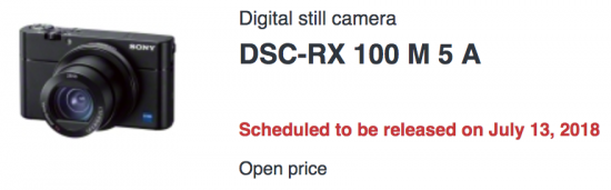 Sony announced a new and updated RX100VA (RX100M5A) camera in Japan