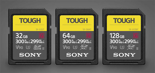 The new Sony Tough SD memory cards are now available