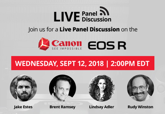 Canon EOS R live panel discussion starts in 5 minutes