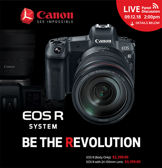 The Canon EOS R mirrorless camera is now available for pre-order in the US
