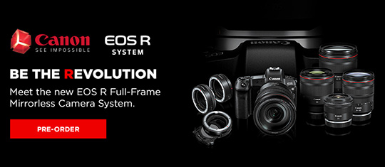The new Canon EOS R full frame mirrorless camera is now shipping