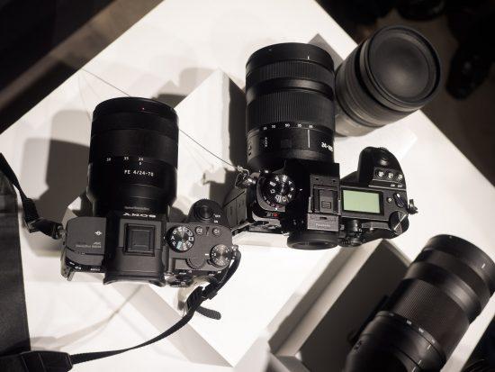 Panasonic S1 Full Frame Mirrorless Camera Next To The Sony