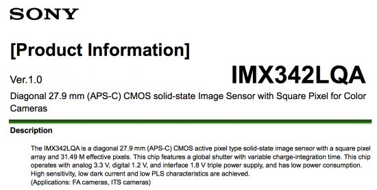 New Sony 31MP APS-C sensor with global shutter announced (a6700?)