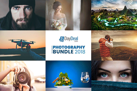 The new 2018 5DayDeal Photography Bundle is now live