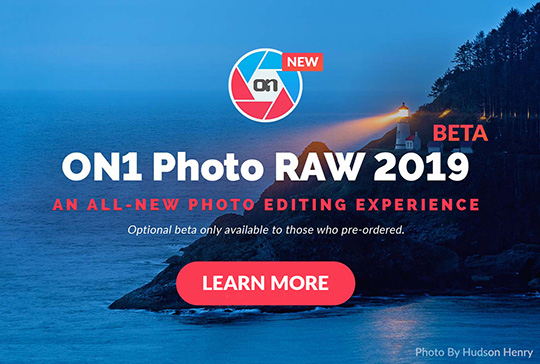 ON1 Photo RAW 2019 beta version now available
