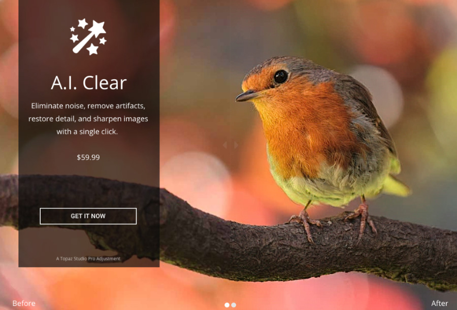 Topaz Labs announced a new A I  Clear speed and performance update