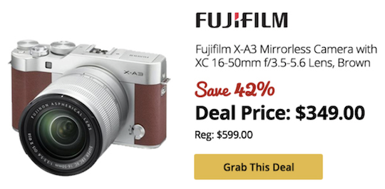 Deal of the day: Fuji X-A3 for $349 ($250 off)