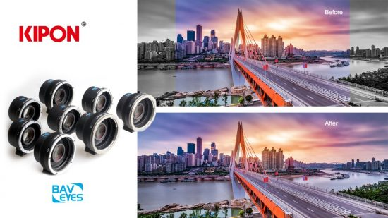 New Kipon Baveyes/focal reducers for Nikon Z and Canon R mirrorless cameras announced