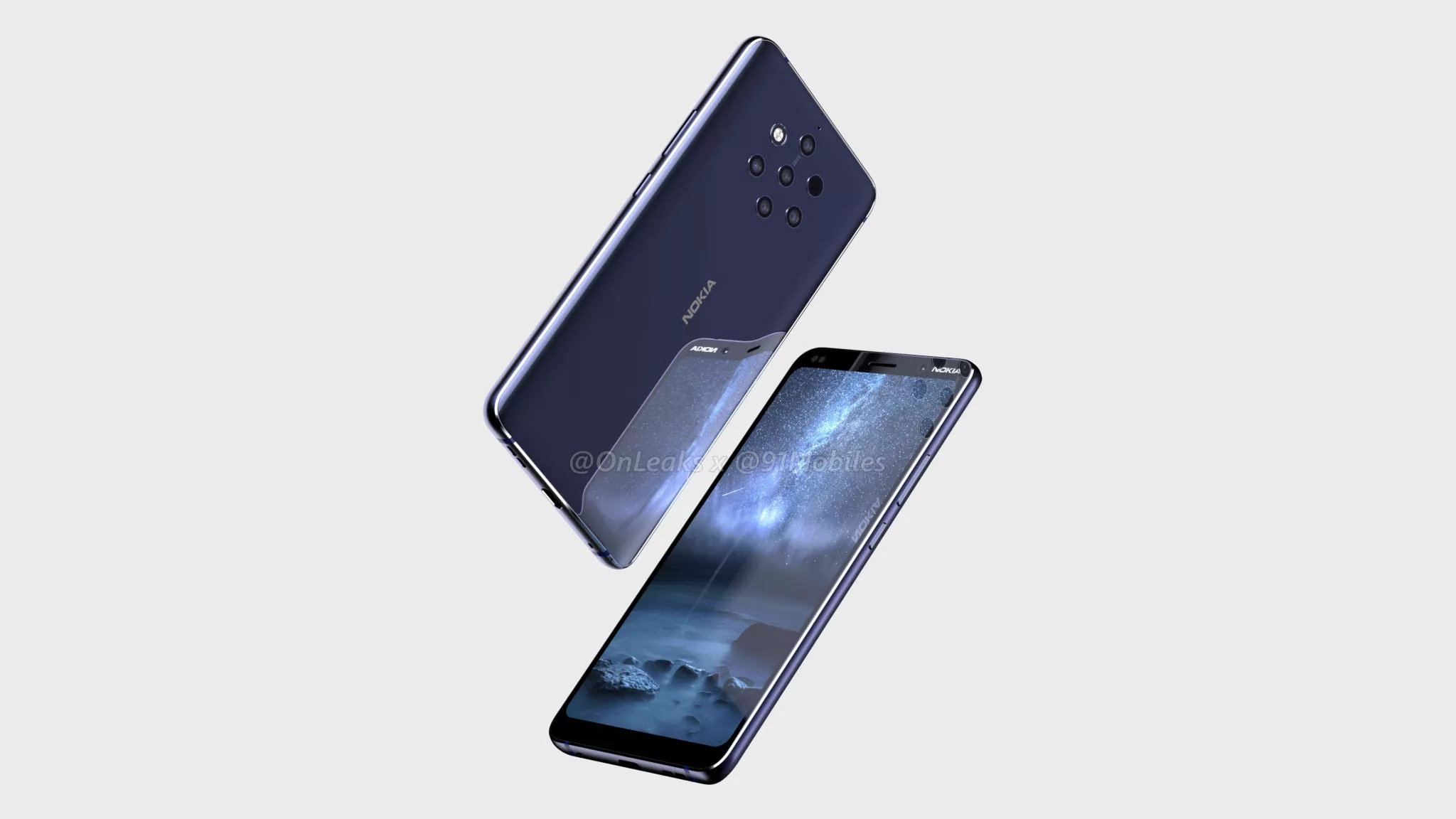 Leaked New Nokia 9 Pureview Smartphone With Five Zeiss