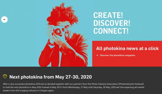 The 2019 Photokina show is canceled, Photokina 2020 dates announced: May 27-30, 2020