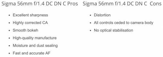 Sigma 56mm f/1.4 DC DN Contemporary lens now shipping