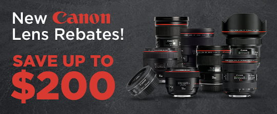 New Canon camera/flash/lens rebates in the US