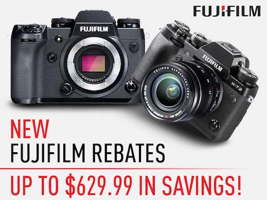 New Fuji rebates in the US
