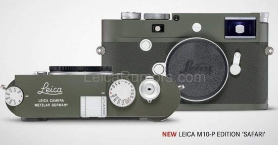 New Leica M10-P Safari limited edition camera leaked online