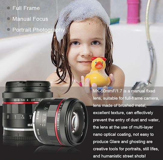 Meike Has A New Cheap 50mm F 1 7 Full Frame Manual Focus