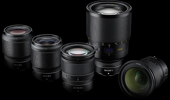 Updated Nikon Z mirrorless lens roadmap