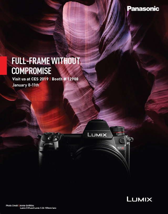 Panasonic S1 and S1R full-frame mirrorless cameras will be announced/introduced today