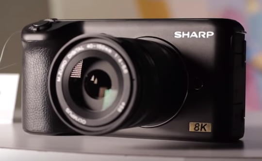 New Sharp Micro Four Thirds 8k camera on display at CES