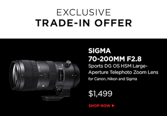 Sigma trade-in offer from Adorama - Photo Rumors