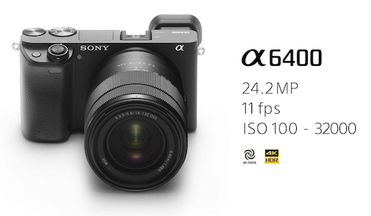 Sony a6400 APS-C mirrorless camera now available for pre