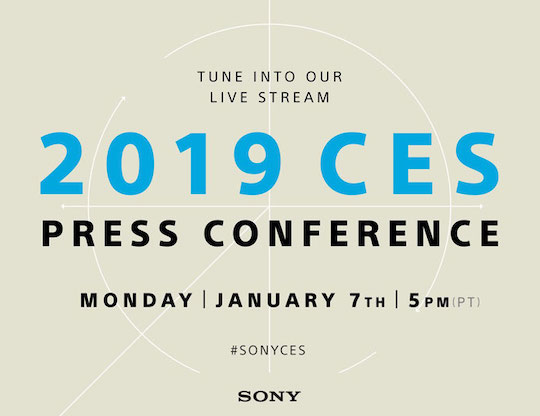 Sony press conference at the 2019 CES show starts in 10 minutes