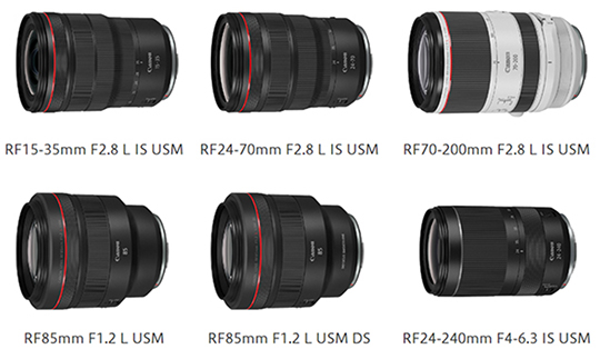 Pricing of Canon RF 15-35mm, 24-70mm and 70-200mm f/2.8L IS USM mirrorless lenses leaked online - Photo Rumors