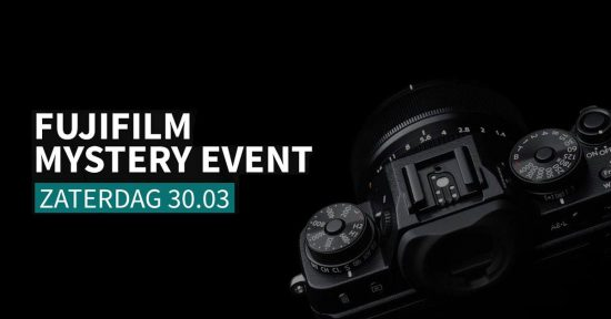 """Fujifilm Mystery Event"" on March 30th"
