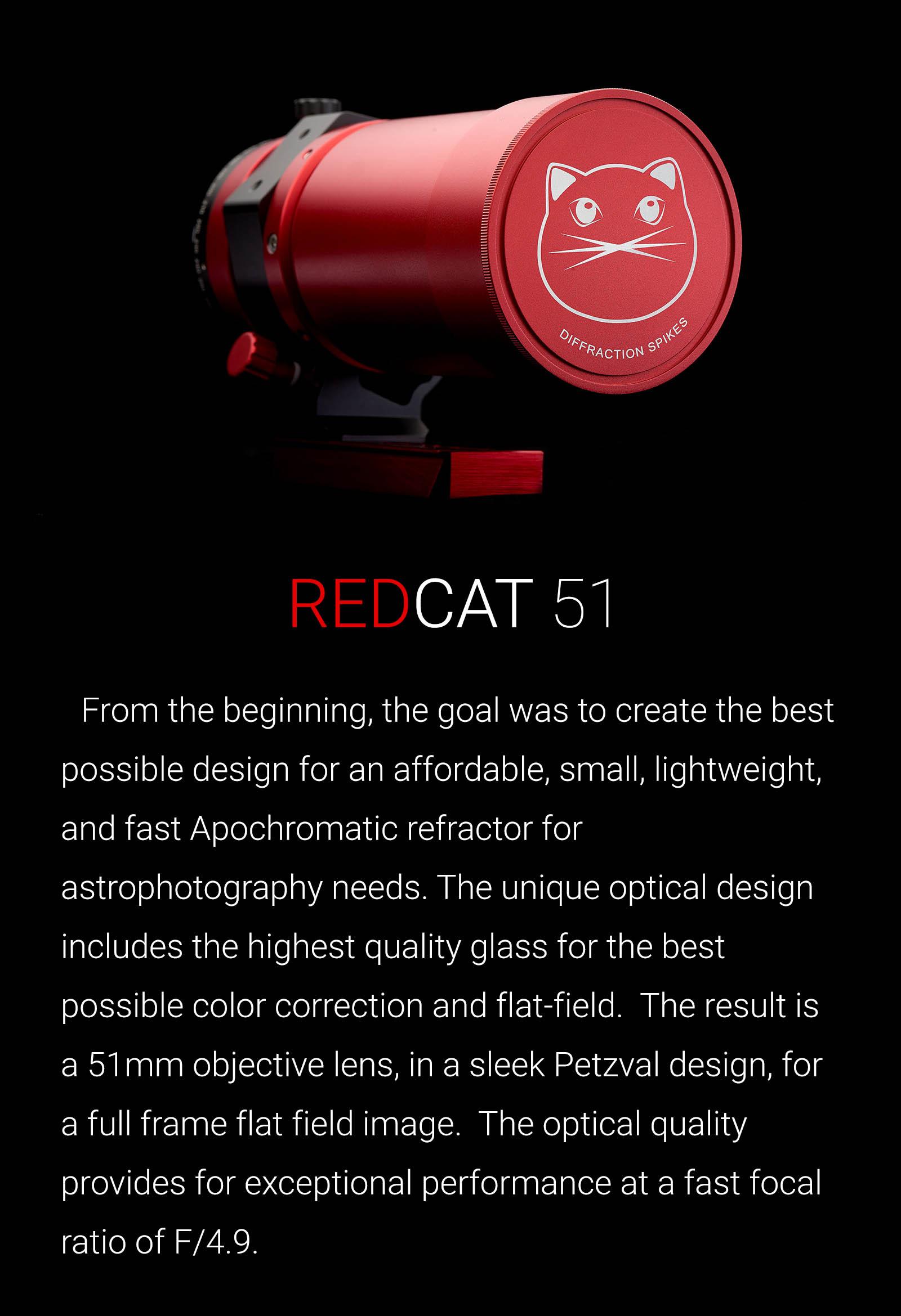 William Optics Redcat 51 Apo 250mm F 4 9 Telephoto Full