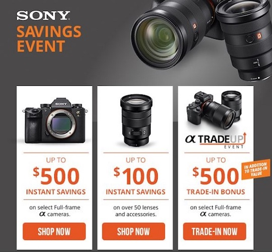 New Sony savings and trade-up offer in the US
