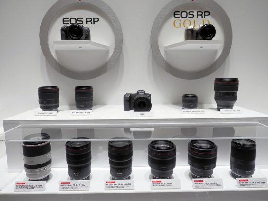 new Canon RF mirrorless lenses