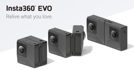 Insta360 Evo is a new foldable camera that can shoot 180° in 3D and 360°