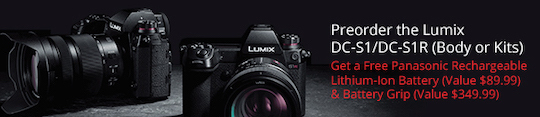 Panasonic S1 paid firmware upgrade with 10-bit and V-Log is coming