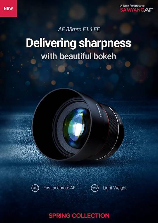 US price of the Samyang/Rokinon 85mm f/1.4 AF lens for Sony E-mount: $699