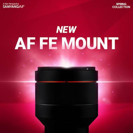 Samyang AF 85mm f/1.4 FE lens pictures leaked online, official announcement coming soon