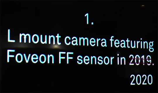 An update on the development of the Sigma Foveon sensor with X3 1:1:1 technology