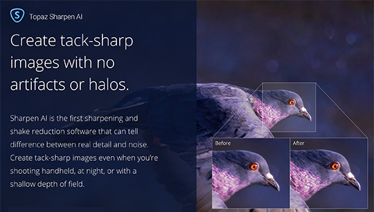 New Topaz Labs Sharpen AI software released (intro offer: $20 off