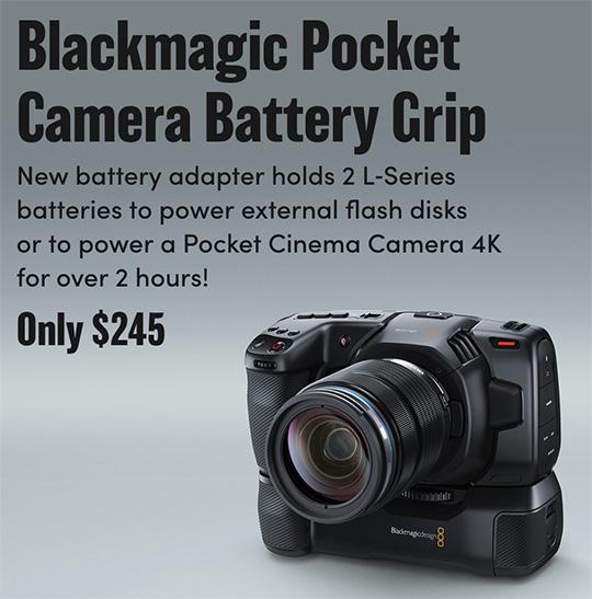 Blackmagic Announced A New Pocket Cinema Camera Battery Grip Photo Rumors