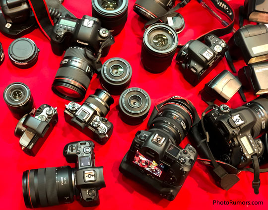"Canon: ""of course some professional photographers are asking for a mirrorless solution, but as of now, we also see a lot of demand from photographers asking for DSLRs"""