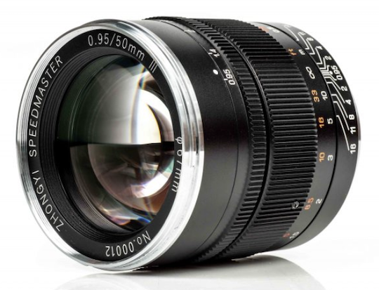 New Mitakon Speedmaster 50mm f/0.95 III full-frame mirrorless lens officially announced