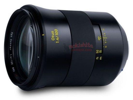 Zeiss Otus 100mm f/1.4 full-frame DSLR lens specifications leaked