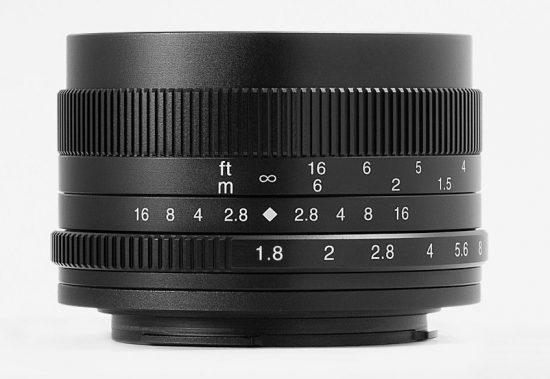 New 7Artisans 50mm f/1.8 APS-C mirrorless lens