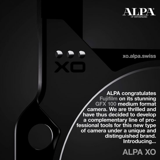 Alpa XO teaser for a new line of professional tools for the Fujifilm GFX 100 medium format camera