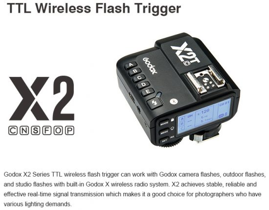 Godox X2T wireless flash TTL trigger announced